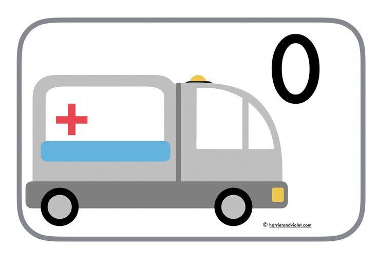 ambulance 0-20 number line  (emergency vehicles)