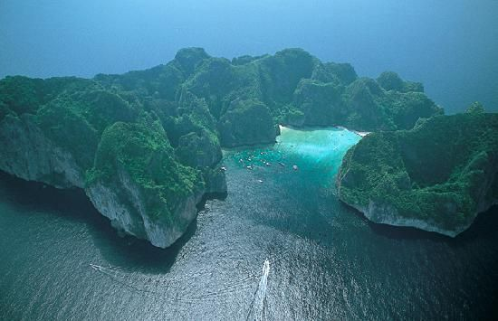 Phi Phi Maya Bay Aerial View what a beautiful planet we live on!