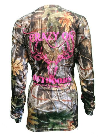 Ladies Micro Fiber long sleeve Camo Shirt... $28.95