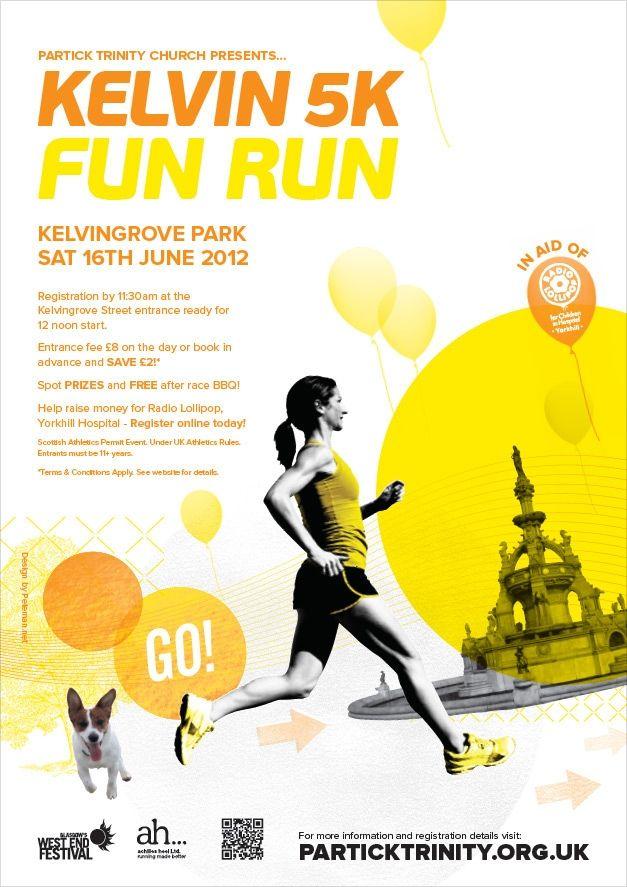 Kelvin 5k Fun Run On Behance Running Posters Fun Run Flyer