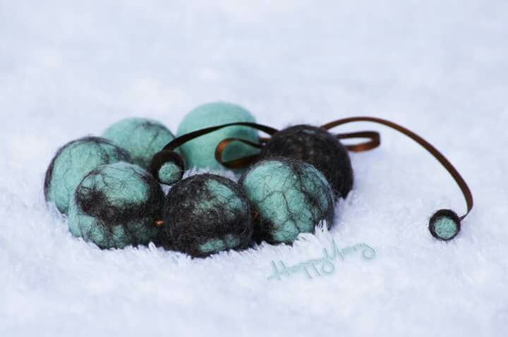 "Pulsera de fieltro ""Menta y Cocolate amargo"". ♡HAPPY MARY♡"