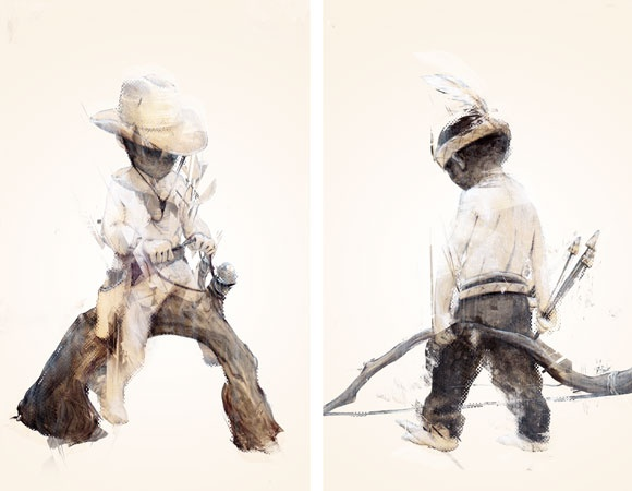 Tayor White 'Cowboy & Indian'