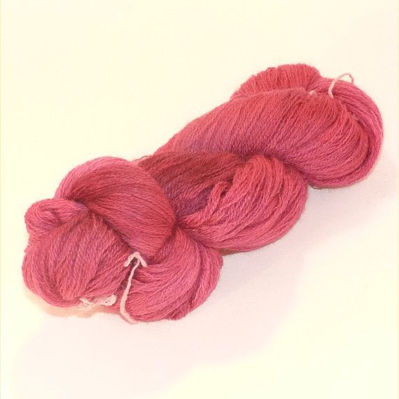 Laceweight BFL Blue Faced Leicester  Raspberry Beret by RebelYarn, £13.00