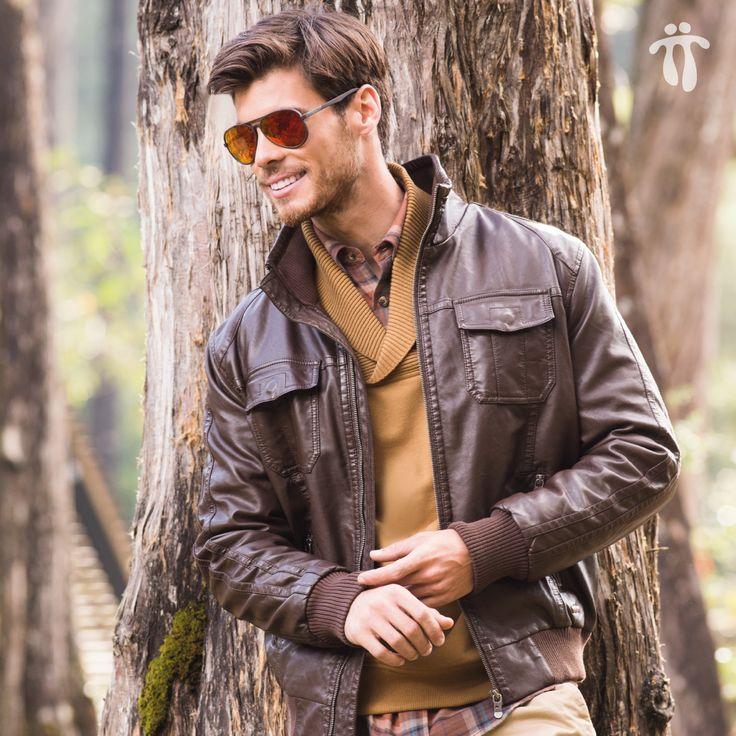 Casual y a la moda. #Look #Hombre #Estilo en www.totto.com