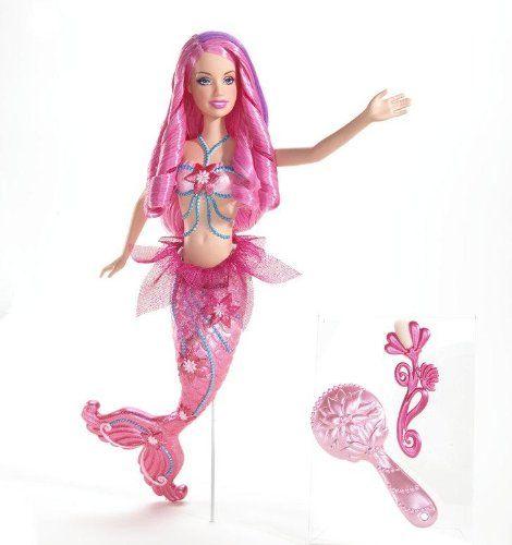 Barbie Fairytopia Pink Color Change Mermaid Doll...
