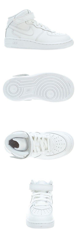Nike Toddlers Force 1 Mid (TD) White/White/White Basketball Shoe 9 Infants US