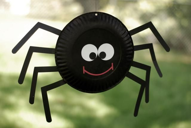 """Celebrate Halloween! Easy to Make Cat, Spider and Bat Paper Craft: The """"Itsy Bitsy Spider"""" Paper Plate Halloween Paper Craft"""