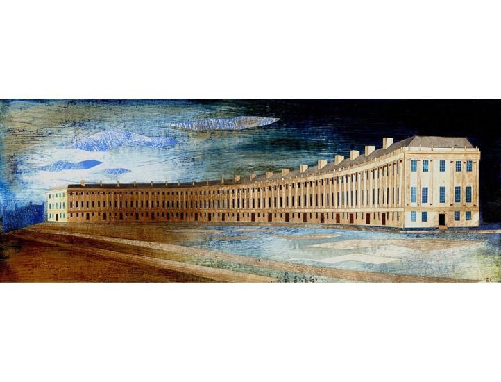 """""""The Royal Crescent"""" (Bath) by Ed Kluz (collage)"""