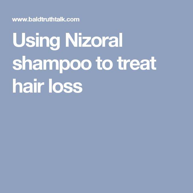 Using Nizoral shampoo to treat hair loss