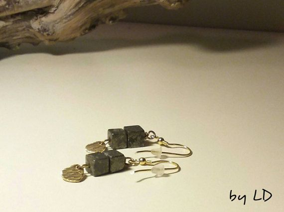 Check out this item in my Etsy shop https://www.etsy.com/listing/483654149/earrings-with-gemstones-pyrite-and