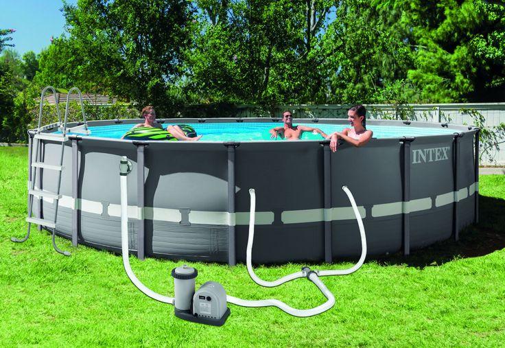 "Intex 20' x 48"" Ultra Frame® Pool (w/1,500 gph Pump, Ladder, Cover, and Ground Cloth, DVD)"