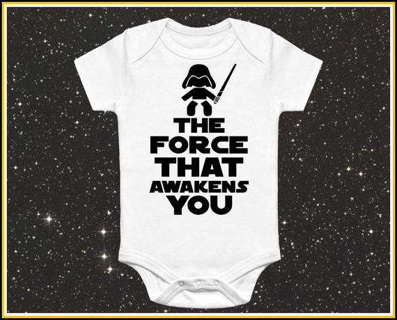 The Force that Awakens You baby onesie cute by AwesomeBabyWear
