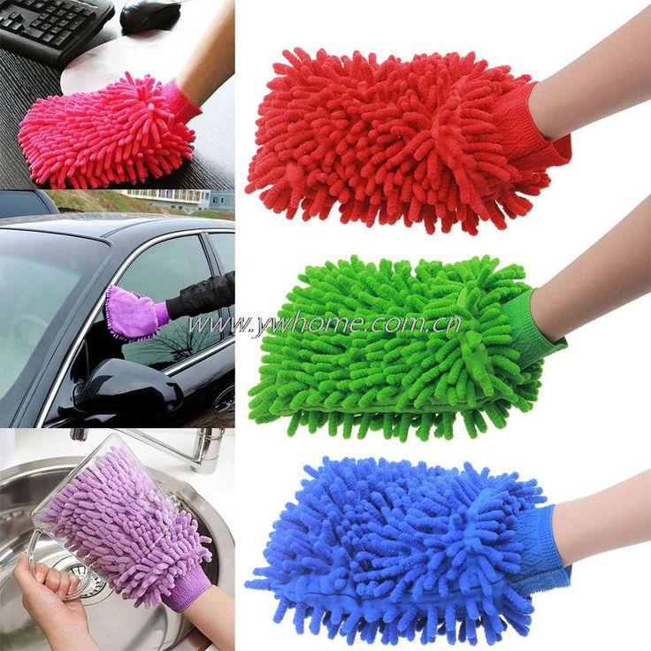 1pc Super Mitt Microfiber Car Rearview Mirror Home Cleaning Duster Towel Glove Brush Free Shipping