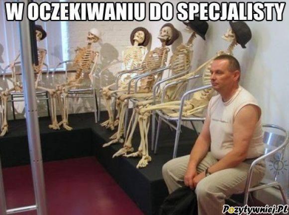W oczekiwaniu do specjalisty