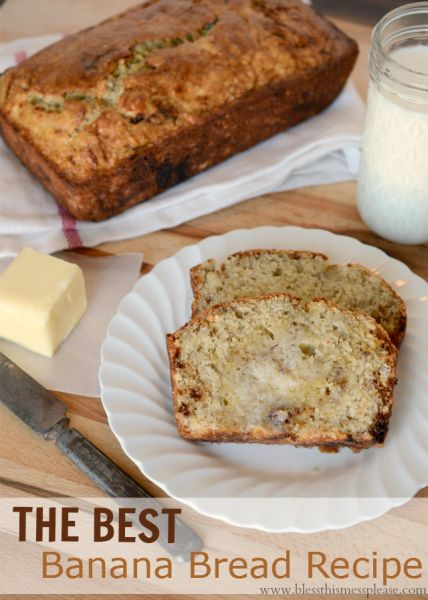 The best banana bread recipe from www.blessthismessplease.com