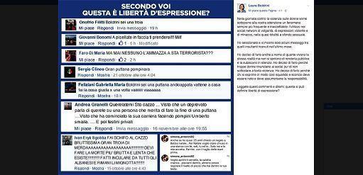 Boldrini pubblica gli insulti sui social, i vertici di Fb la contattano