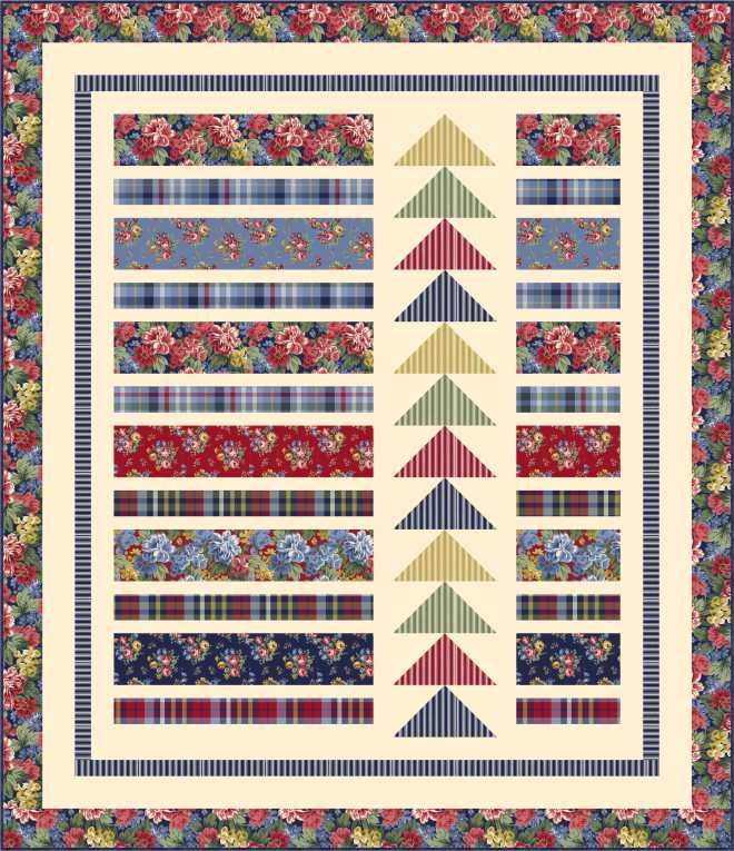 FREE PATTERN: View From The Bay using Windham's Newport – Ivory Spring                                                                                                                                                                                 More