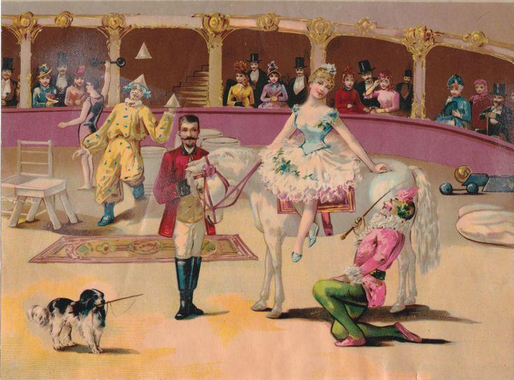 Circus Scene.Original Chromolithograph