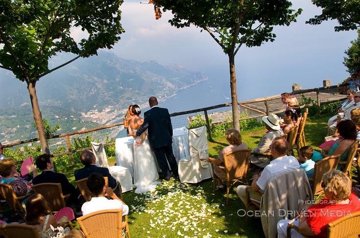 Outdoor service at Amalfi Coast Italy