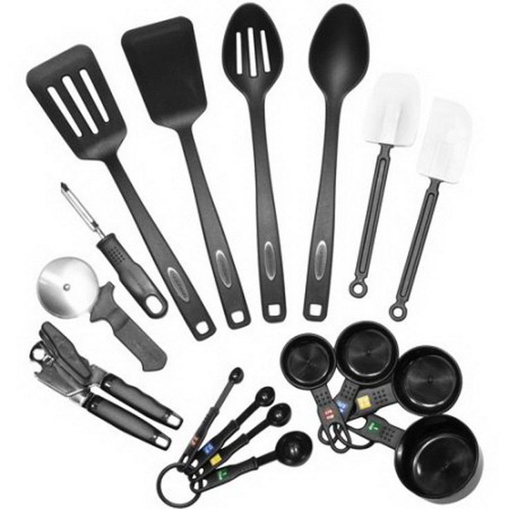 Kitchen Set 17pcs Tools Gadgets Cooking Utensils Turner Spoons Cutter Opener Cup #Farberware