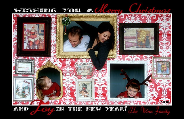 What a fun Christmas card or photo booth idea!