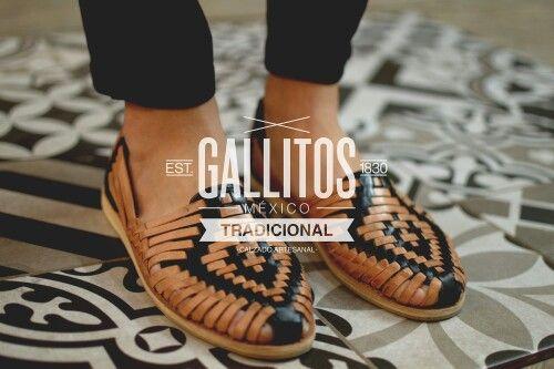 Huarache hecho a mano, calzado artesanal mexicano.