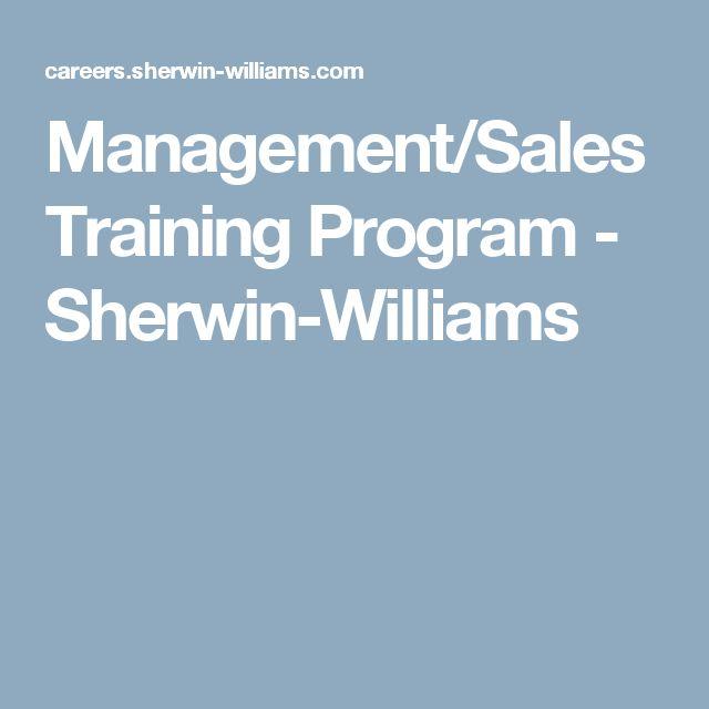 Management/Sales Training Program - Sherwin-Williams
