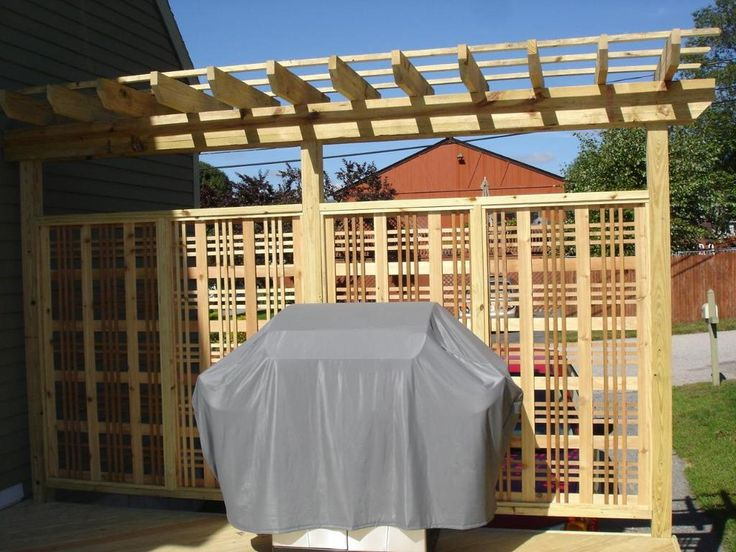 Cedar Privacy Fence With Small Pergola Miscellaneous Photo X 768 Px