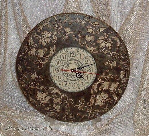 Декор предметов День рождения Декупаж Часы Романтика