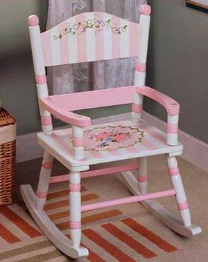 painted rocking chair ideas | Bouquet Girls Rocking Chair - Kids Decorating Ideas