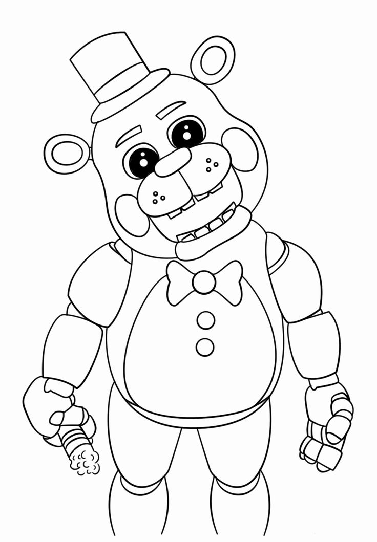Freddy Fazbear Coloring Page Awesome Free Printable Five ...