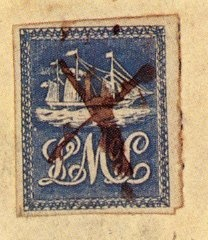 Rare Trinidad stamp. The Lady McLeod local stamp, 1847