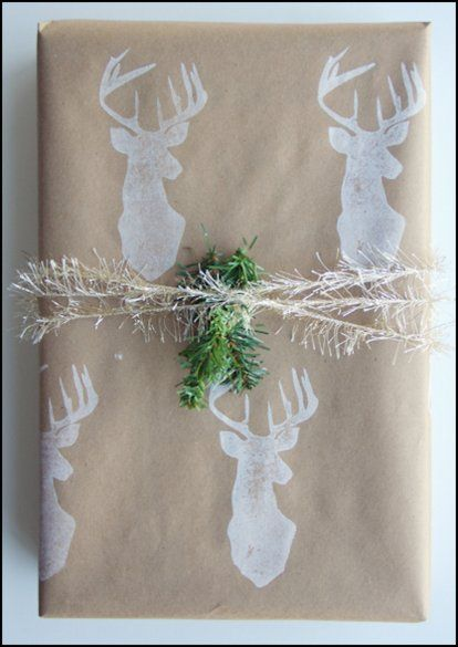 DIY Stamped Christmas Wrap w/ Tutorial | Content in a Cottage
