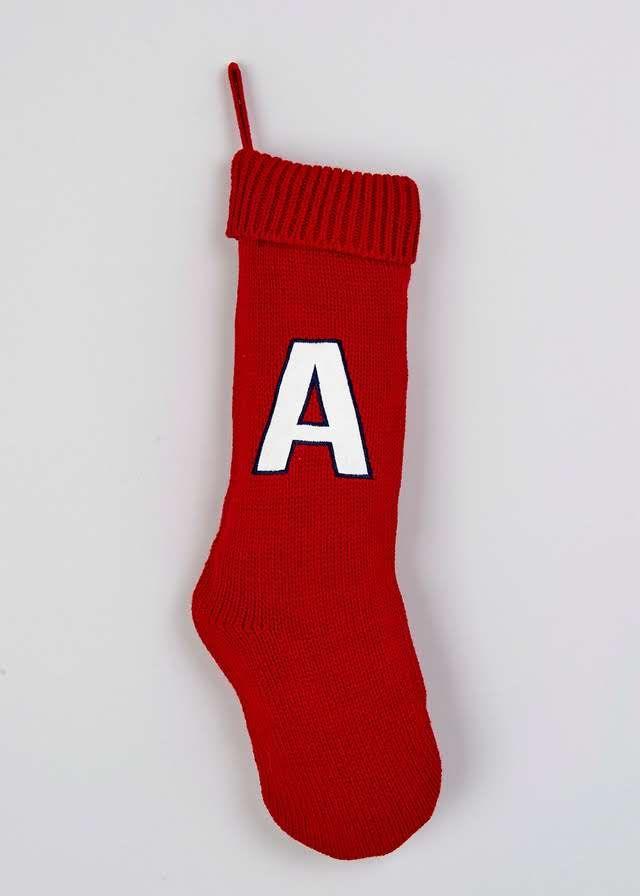 Christmas Alphabet Stocking (20cm x 60cm) View 1   Christmas ...