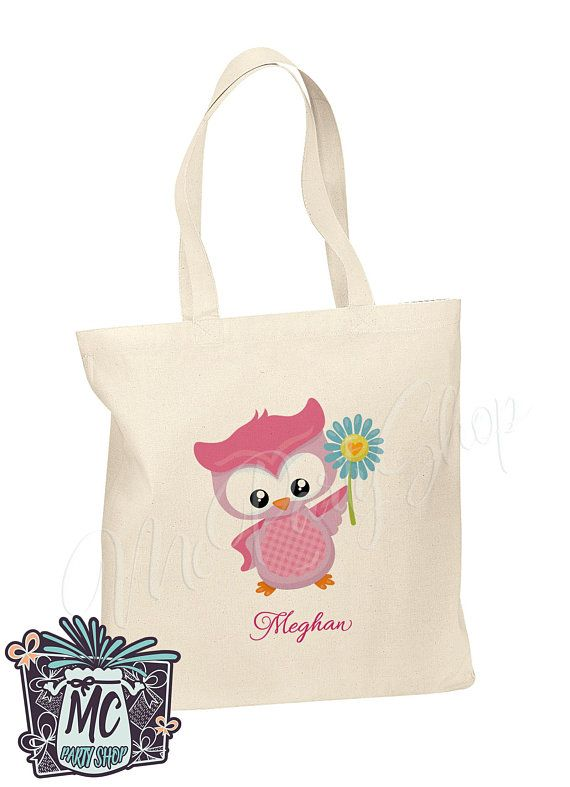 Personalized Owl Cotton Tote Bags S Kids Library Bag Cute Mcparty