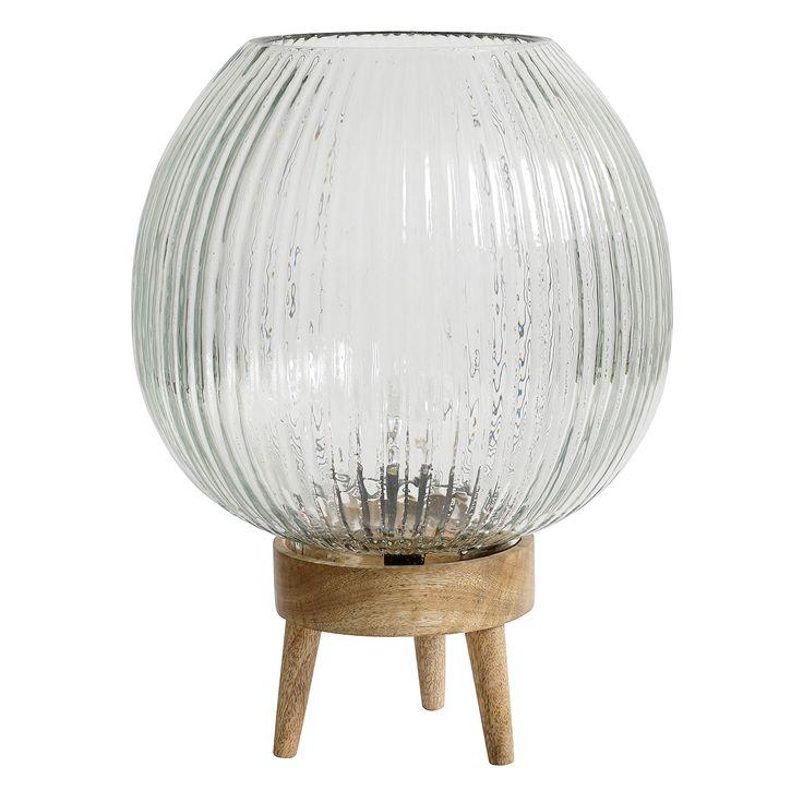 Retro we love it! Deze glazen Grooves tafellamp is van de Scandinavische ontwerpers Nordal.