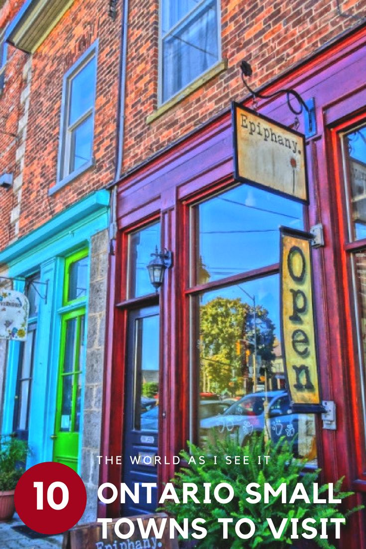 Discover Ontario, Canada's most charming small towns. Find cute boutique shops, stunning natural scenery, and charm that oozes from every inch of Ontario's top small towns. I guarantee you'll fall in love with them all! #Ontario #smalltowns #OntarioTravel