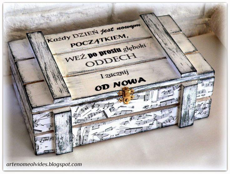 Caja de madera hecho a mano DIY decoupage