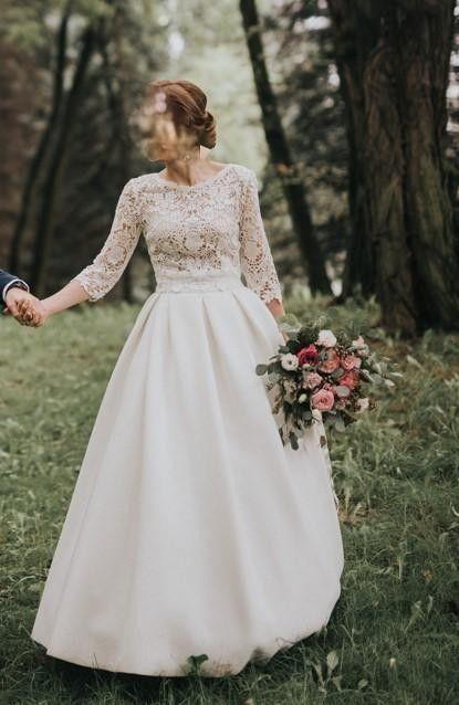 50d87cb872 Sprzedam suknie ślubną w rozmiarze 34 36. Suknia jest dwuczęściowa i składa  się z