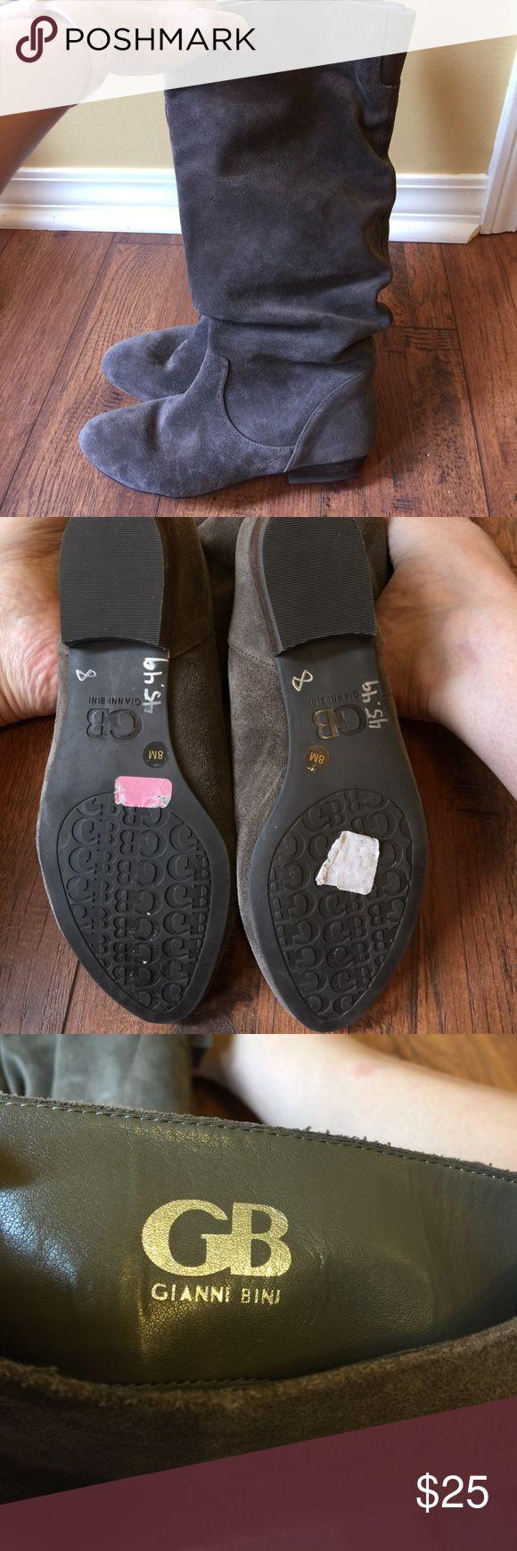 Gray Gianni Bini suede boots - 8 Gray Gianni Bini suede boots - 8 - never worn! Gianni Bini Shoes