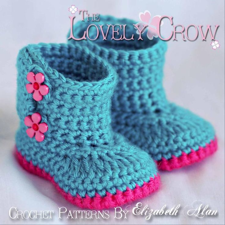 Lovely Crow pattern - free!: Boots Baby, Boots Pattern, Crochet Baby, Baby Booties, Crochet Patterns, Baby Shoes, Baby Boots