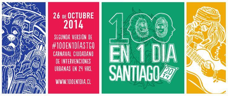 100en1Día Santiago MAÑANA DOMINGO GRAN INTERVENCIÓN EN TODO SANTIAGO. RECORRE LA CIUDAD CON AMIGOS Y/O  EN FAMILIA .... TE SORPRENDERÁS ...