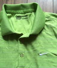 Nike Golf MEN'S Shirt Green DRY FIT Stripe Small | eBay