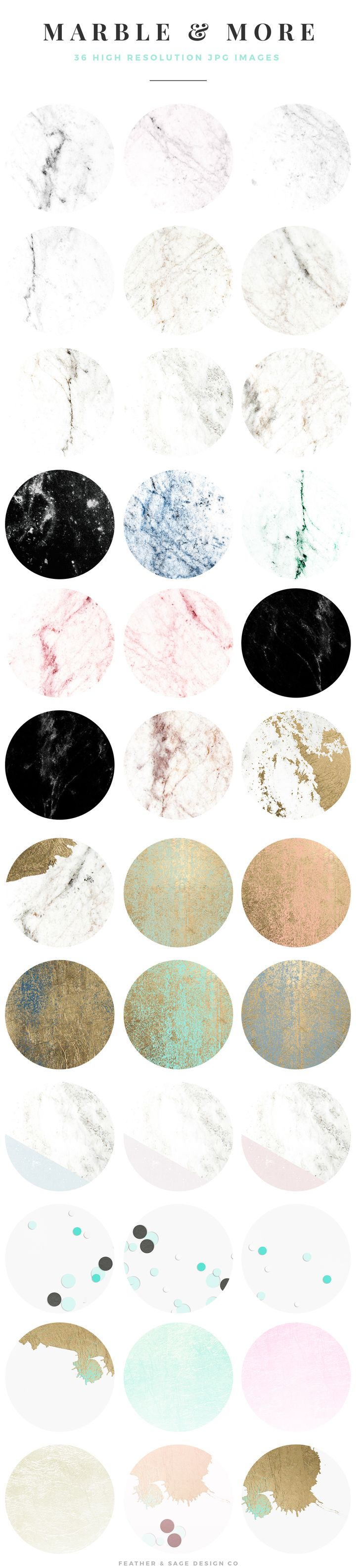 Marble & More Background Images by Feather & Sage