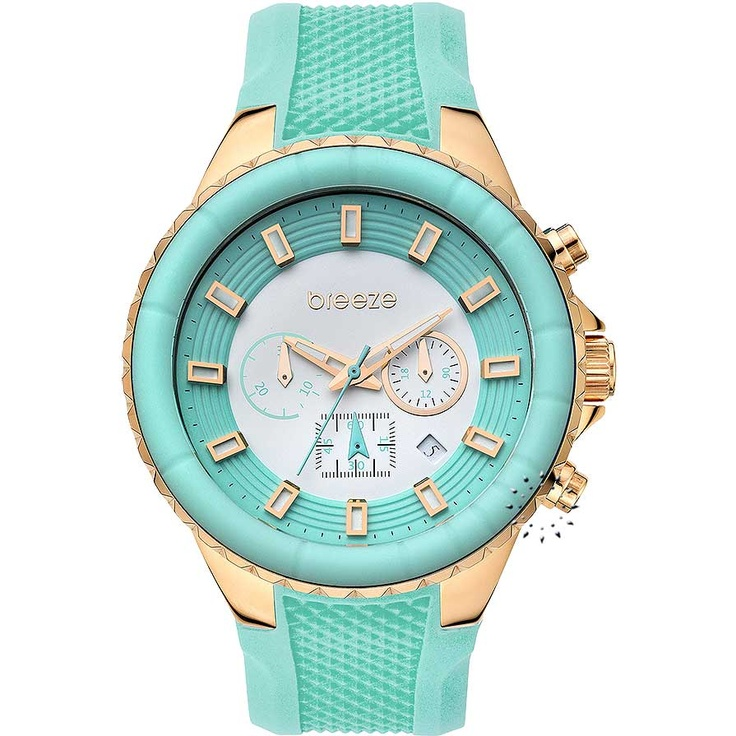 BREEZE Air Hollywood Chrono Green Rubber Strap Μοντέλο: 110091.5 Τιμή: 180€ http://www.oroloi.gr/product_info.php?products_id=30587