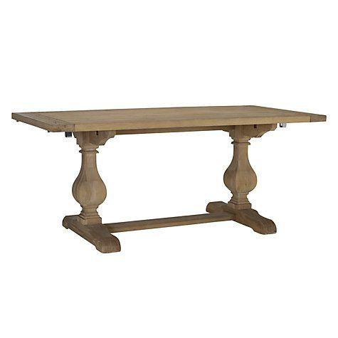buy john lewis marcelle pedestal 610 seater extending dining table online at johnlewis