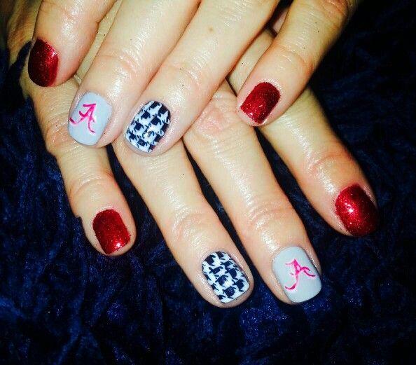 Alabama nail art! Fanicures! Handpainted..no stickers or stensils! - Die Besten 20+ Alabama Nail Art Ideen Auf Pinterest Alabama