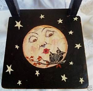 Full moon chair---------cute idea to paint chair this way.