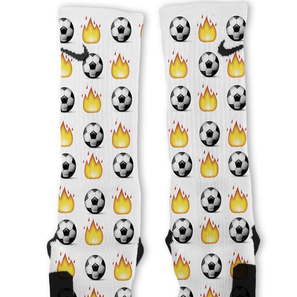 Soccer Emoji Custom Nike Elite Socks