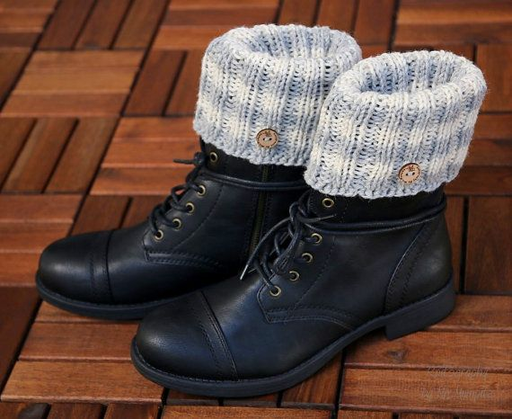 Boot cuffs boot toppers  handknit in pure Swedish wool by KnitographyByMumpitz